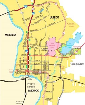 Laredo road map