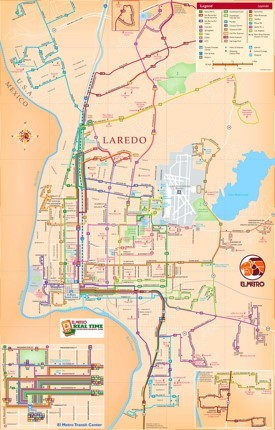 Laredo transport map