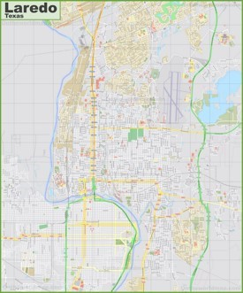 Large detailed map of Laredo