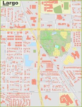 Largo city center map