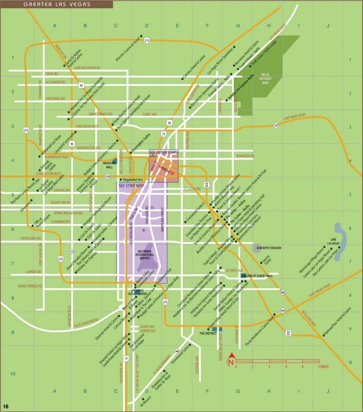 Greater Las Vegas map