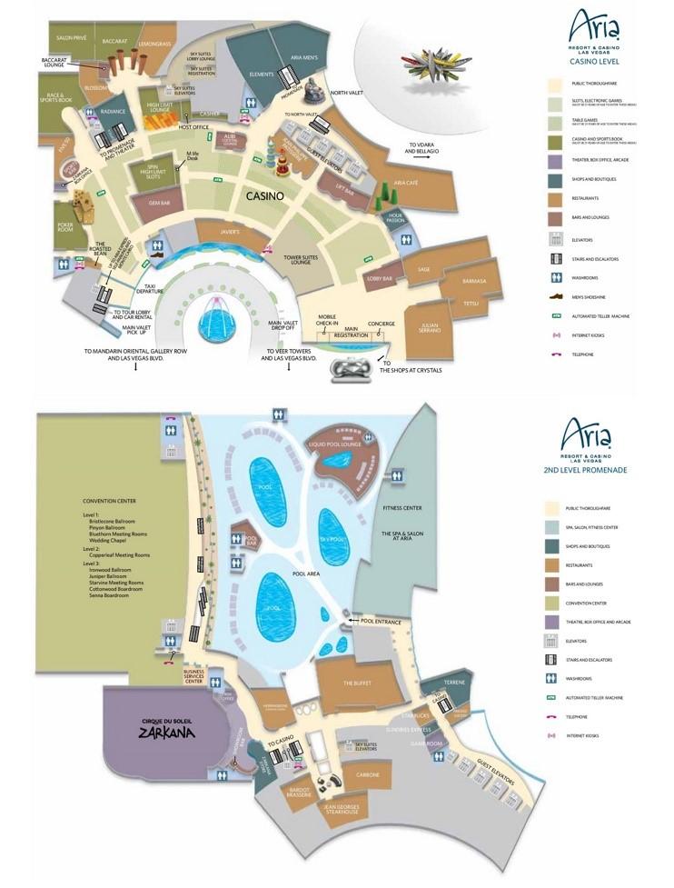 Las Vegas Aria hotel map