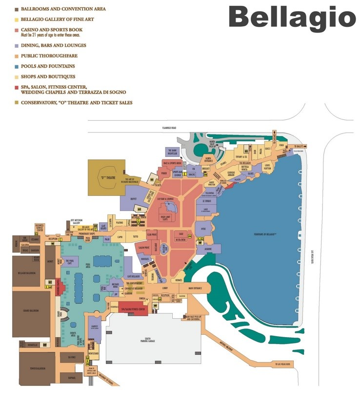 Las Vegas Bellagio hotel map