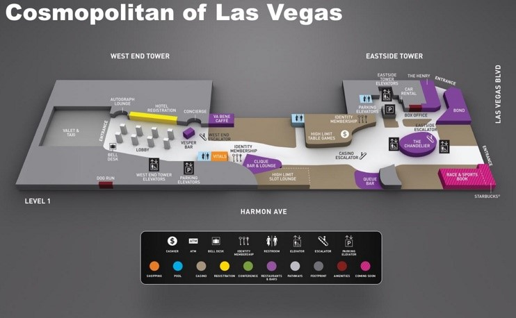 Cosmopolitan of Las Vegas hotel map