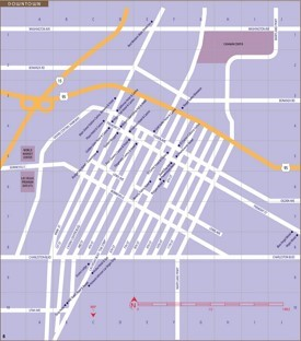 Las Vegas Downtown and Fremont street map