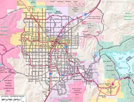 Las Vegas - Henderson Region road map