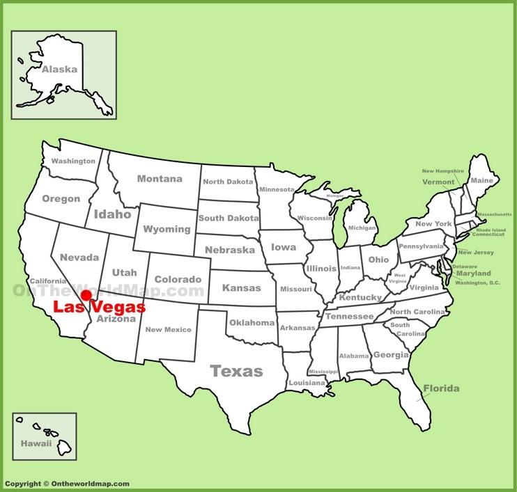 Las Vegas location on the U.S. Map