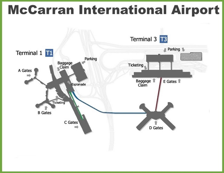 Las Vegas McCarran International Airport map