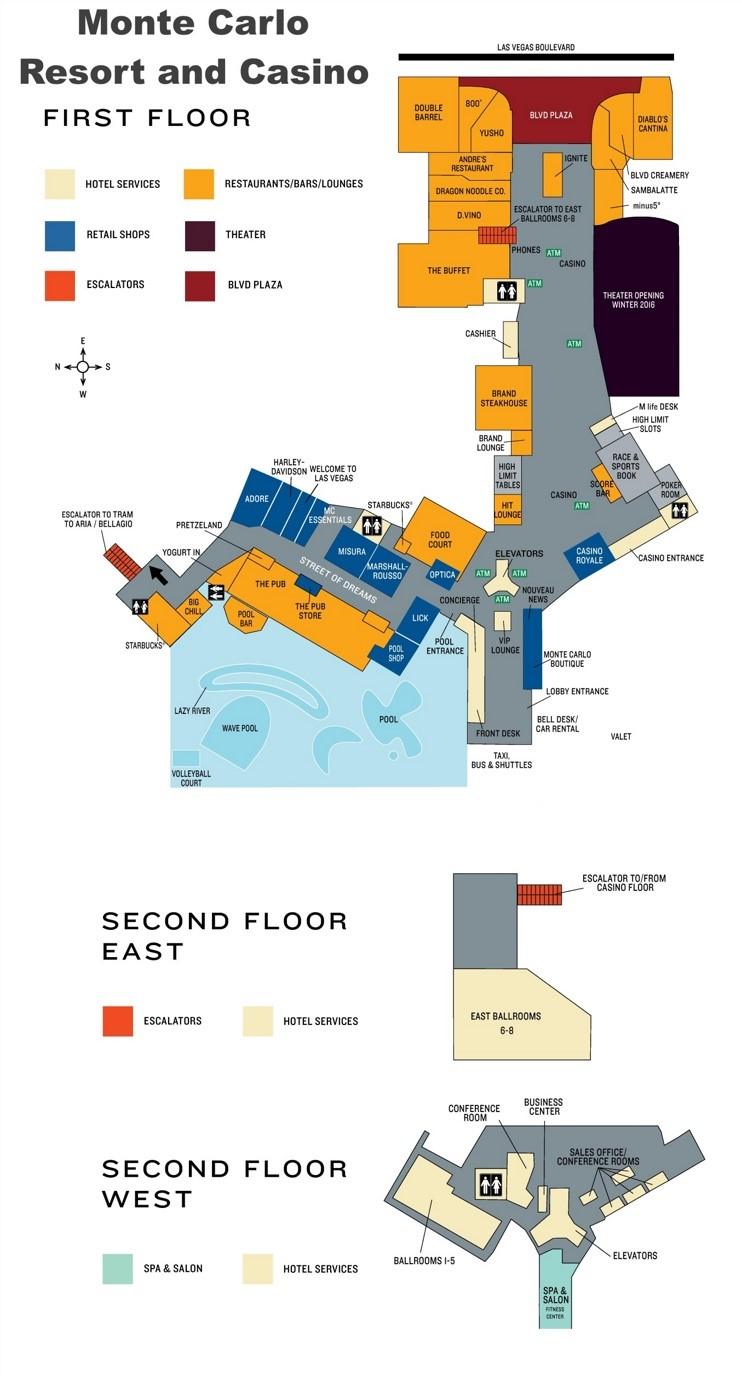 Las Vegas Monte Carlo hotel map