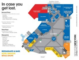 Las Vegas New York-New York hotel map