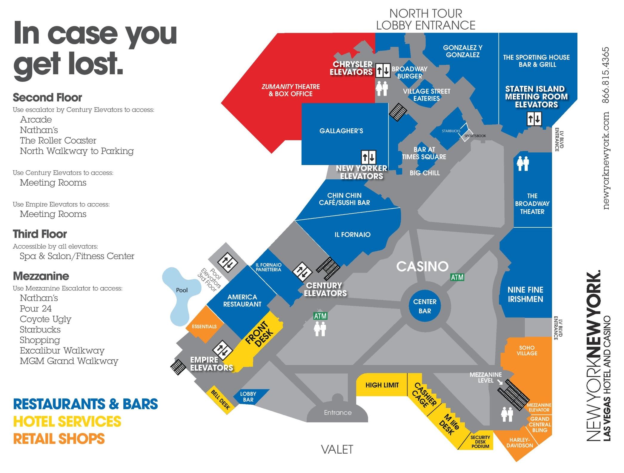 Las Vegas New York Hotel Map