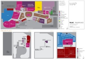 Las Vegas Palms hotel map