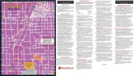 Las Vegas restaurants, hotels and sightseeing map