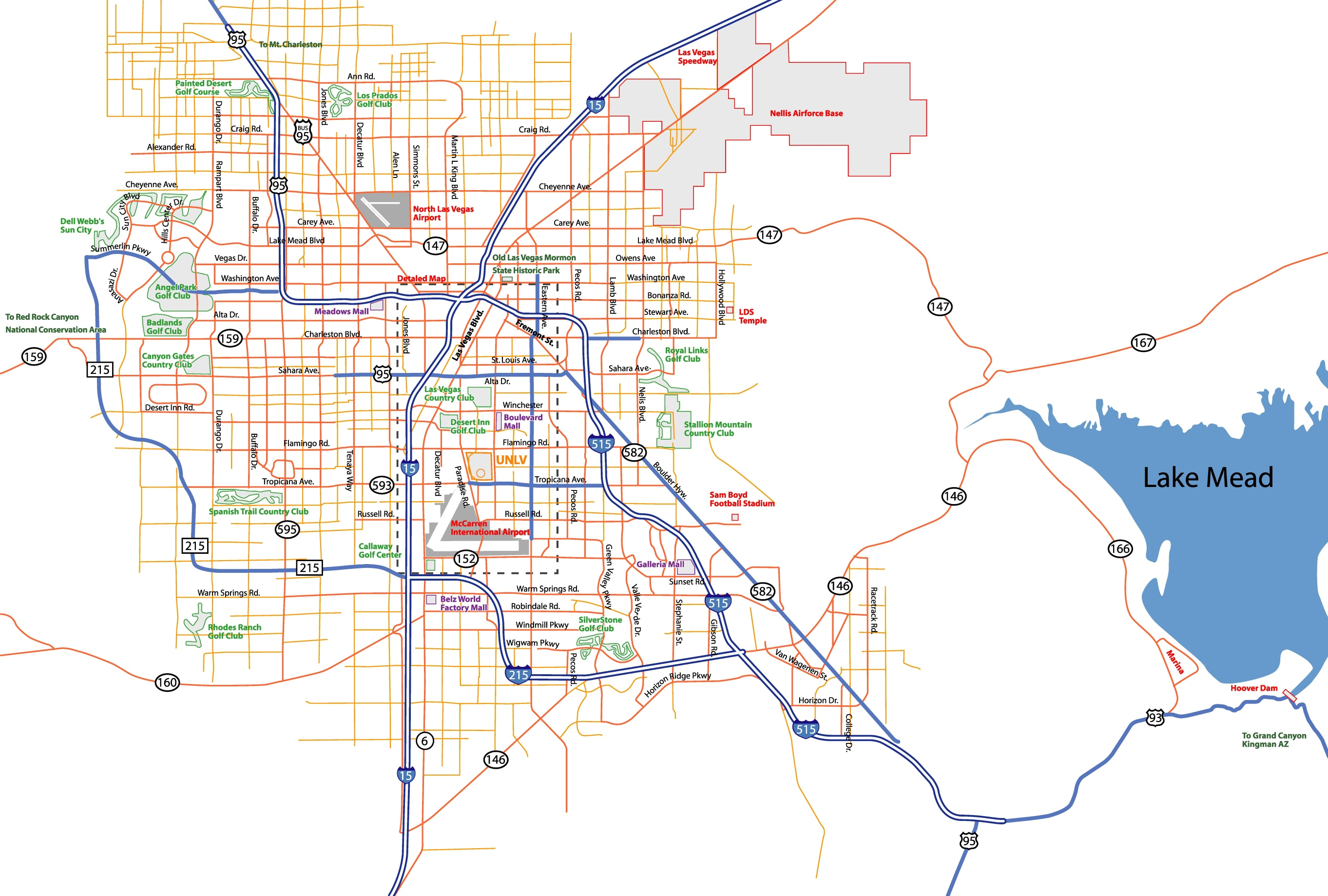 Las Vegas Street Map - Washington dc on the us map