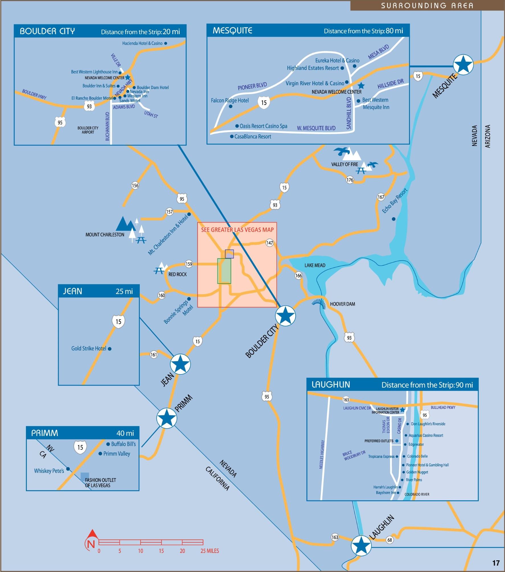 Las Vegas Maps | U.S. | Maps of Las Vegas Strip