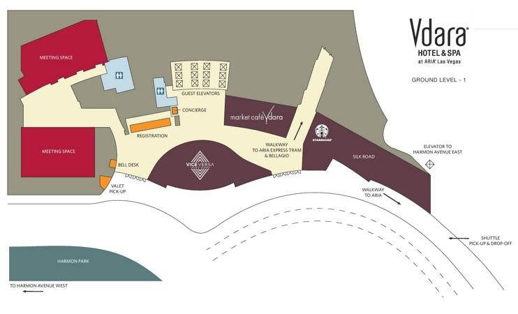Las Vegas Vdara hotel map