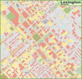 Lexington downtown map