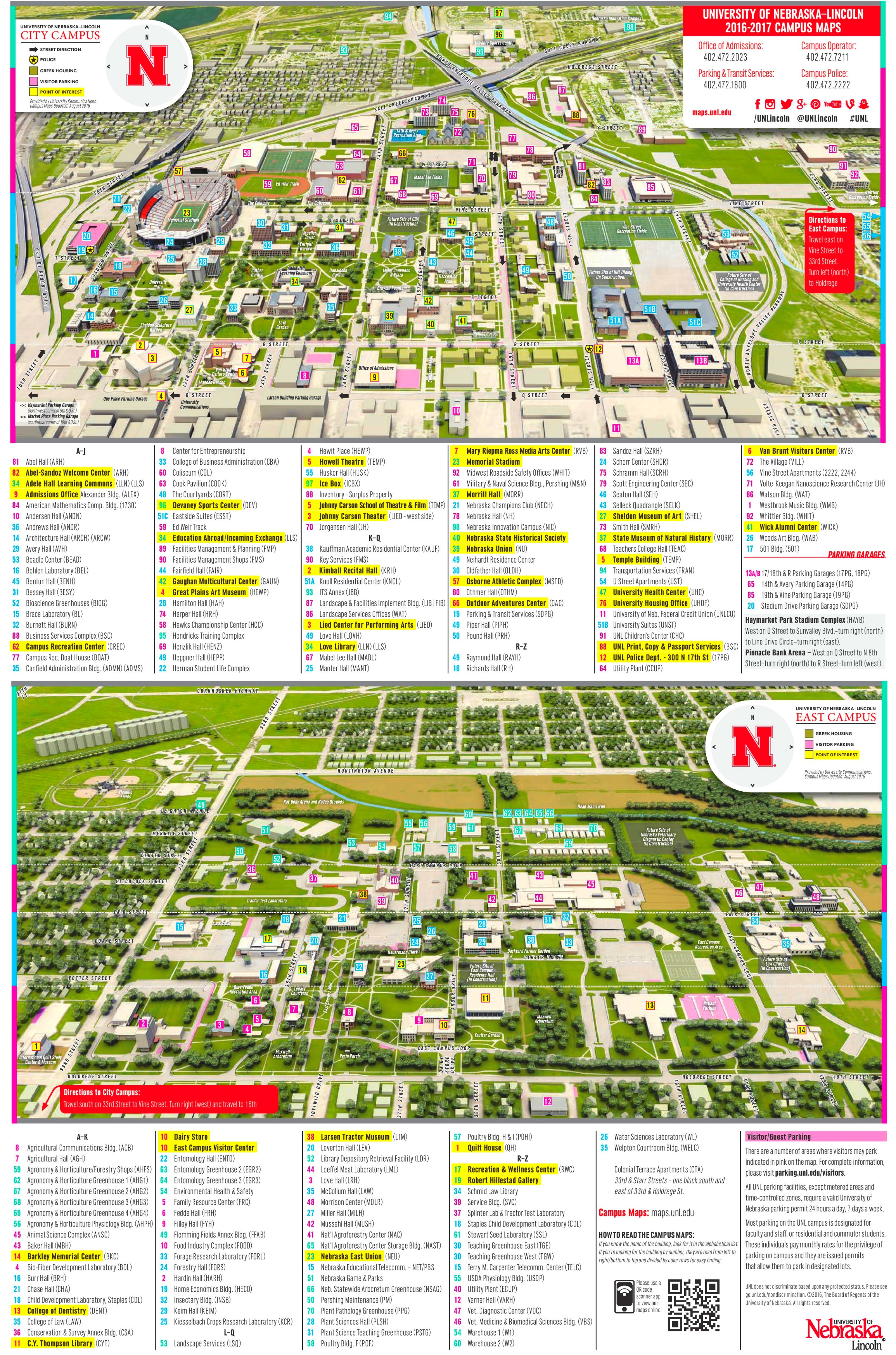 University of Nebraska–Lincoln campus map