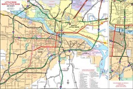 Little Rock area road map