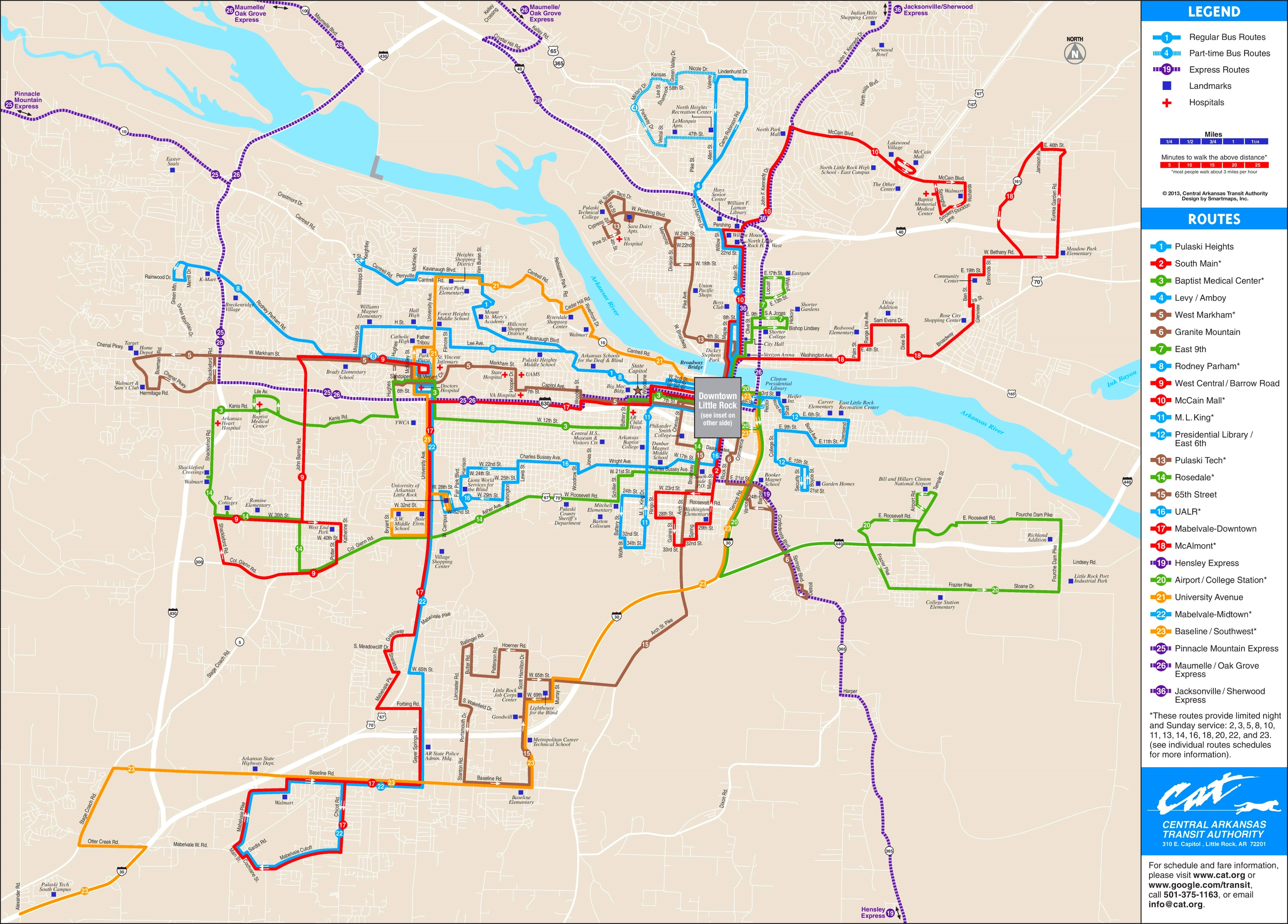 Little Rock bus map