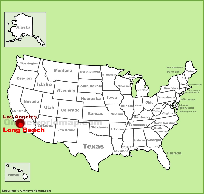 Full Size Long Beach Location Map