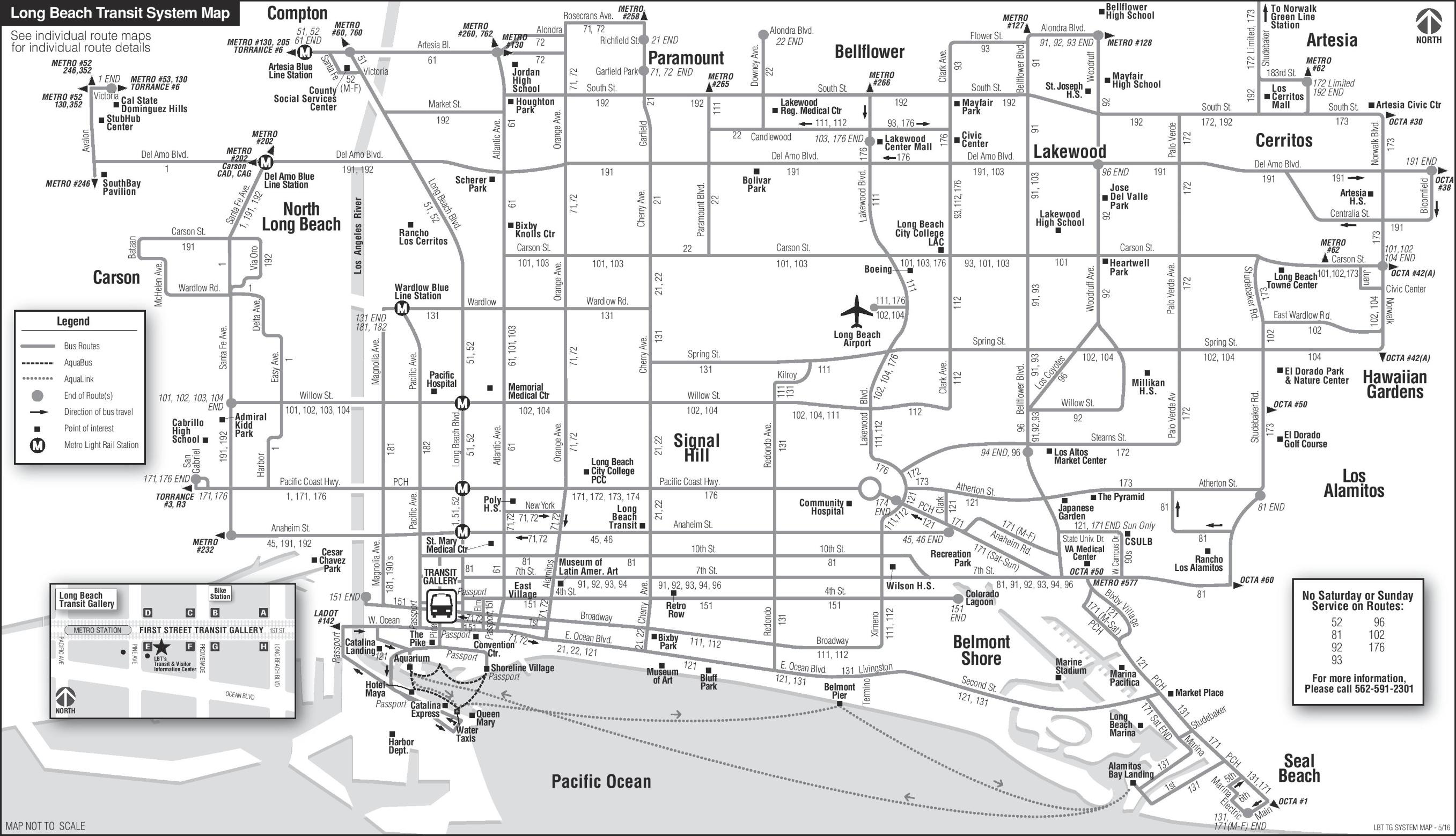 Long Beach transport map
