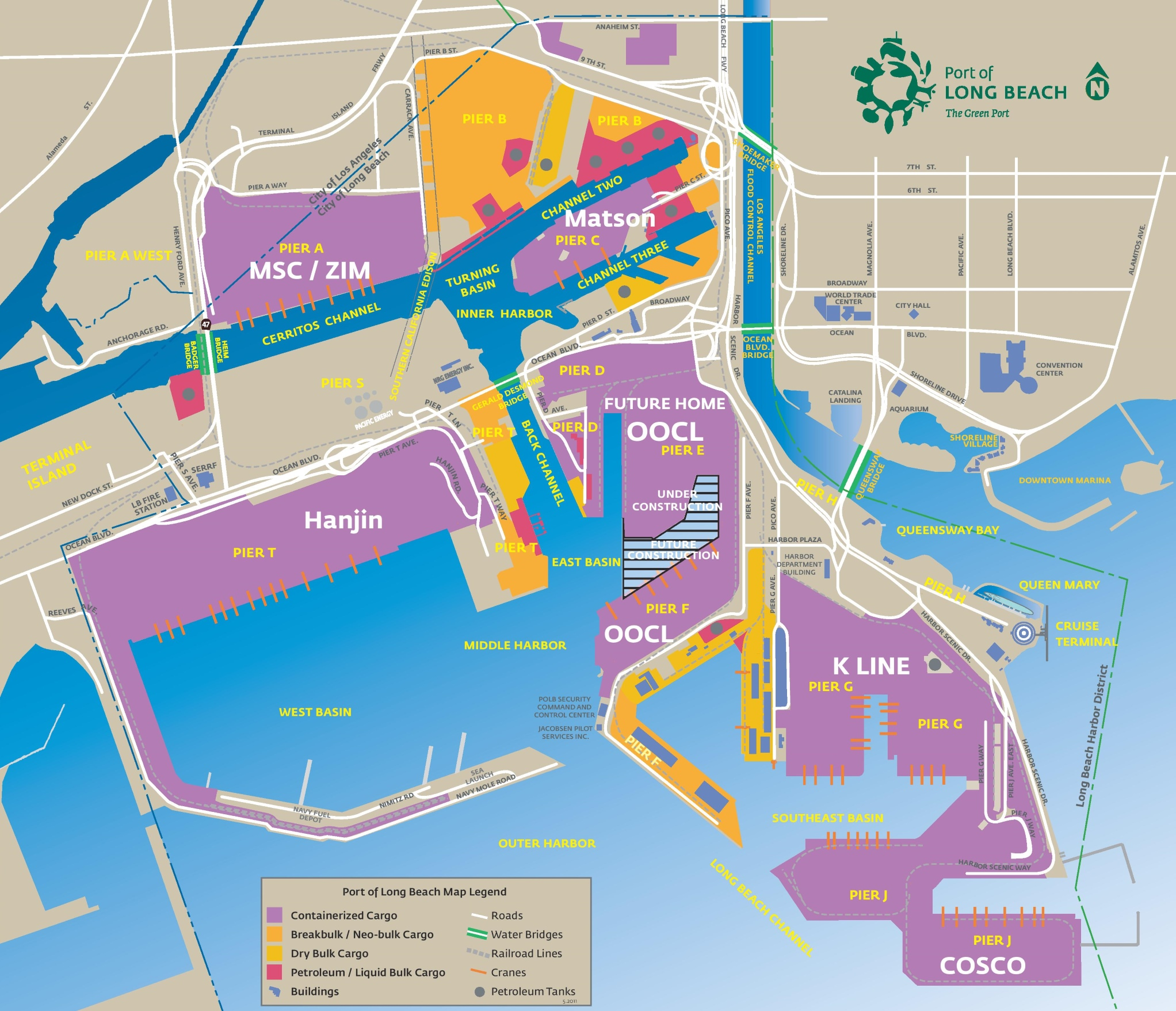 Long Beach Map Port of Long Beach map Long Beach Map