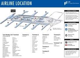 Los Angeles airport terminals map