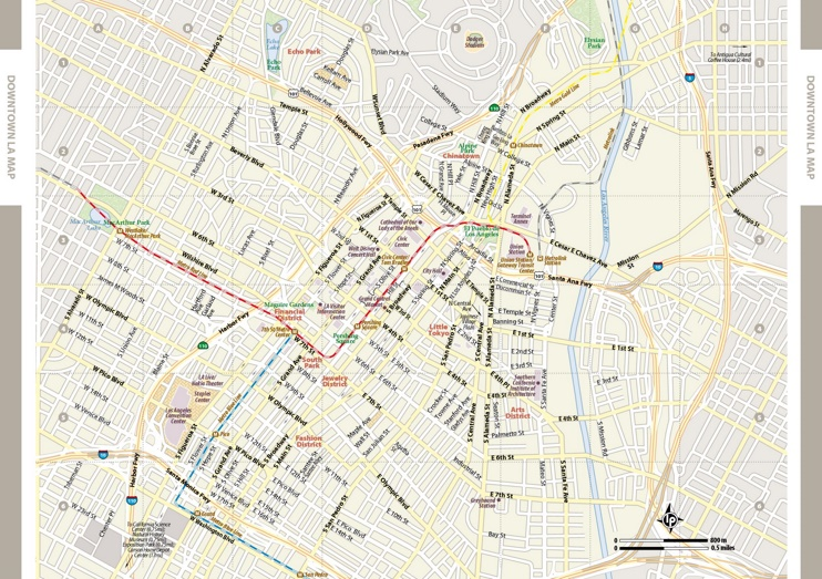 Los Angeles downtown map