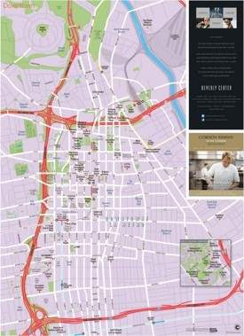 Los Angeles downtown tourist map
