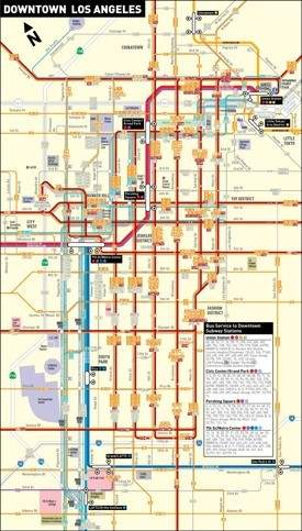 Los Angeles downtown transport map