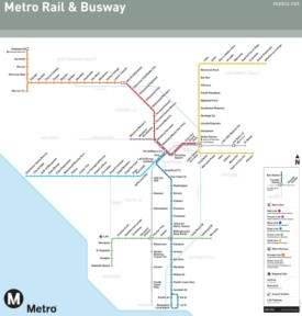 Los Angeles subway map