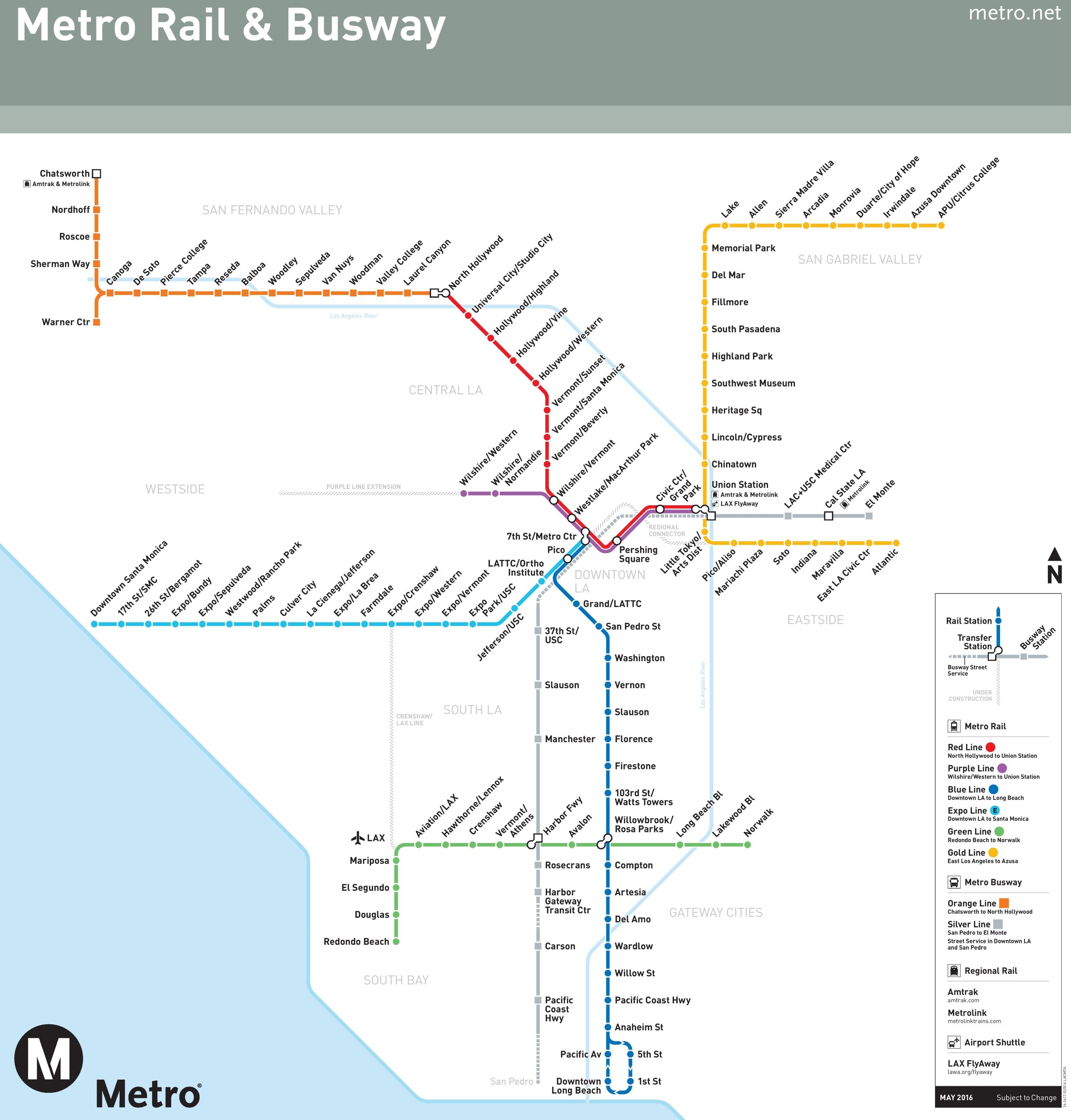 Los Angeles Subway Map Los Angeles subway map Los Angeles Subway Map