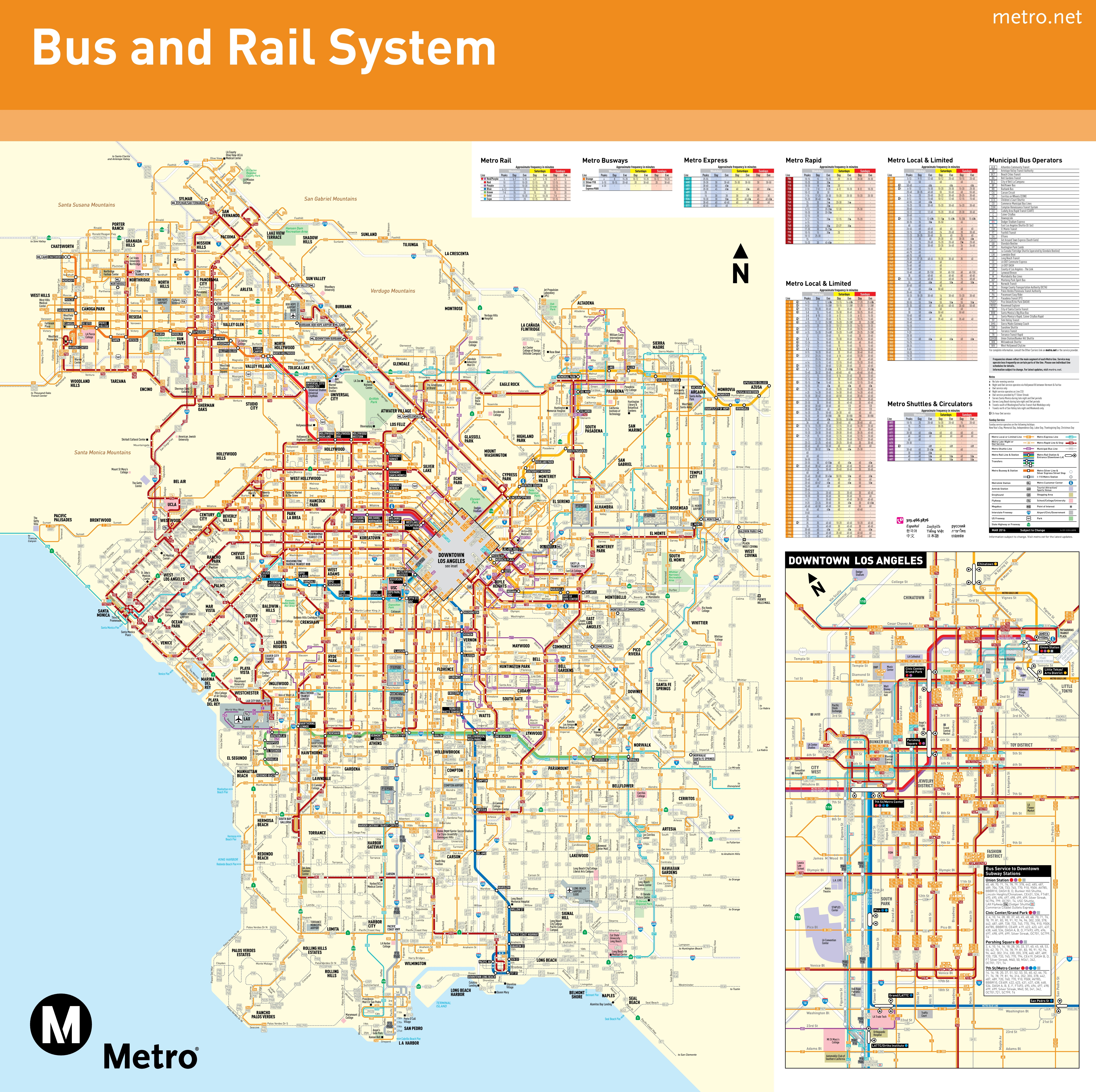 Los Angeles Transport Map - Los angeles in map