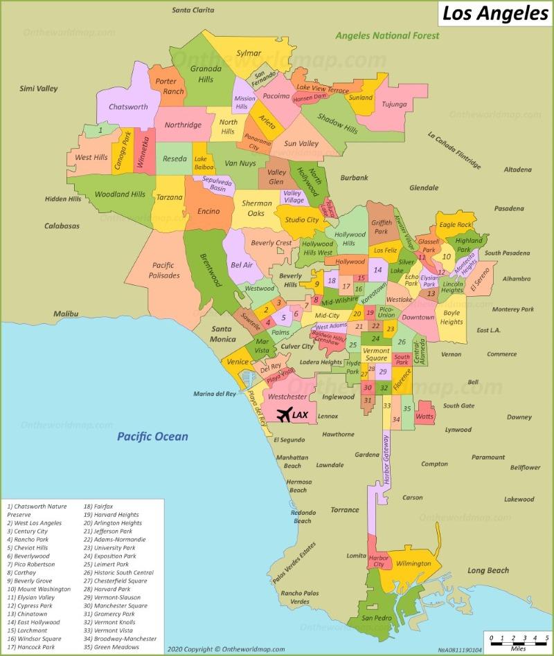 Us Map Los Angeles Los Angeles Maps | California, U.S. | Maps of L.A. (Los Angeles)