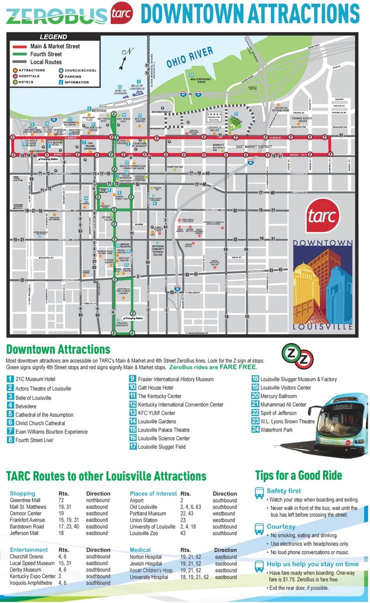 Louisville bus map
