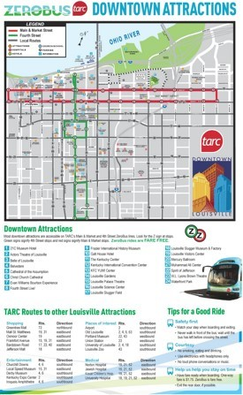 Louisville bus map