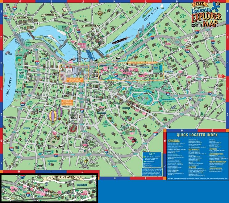 Louisville tourist attractions map
