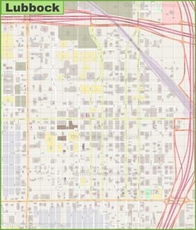 Lubbock downtown map