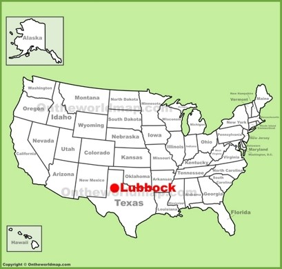Lubbock Location Map