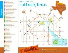 Lubbock tourist map