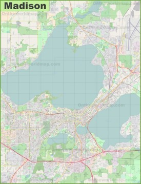 Large detailed map of Madison