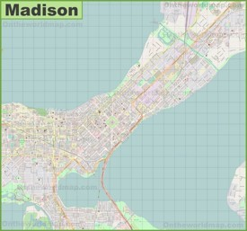 Madison downtown map