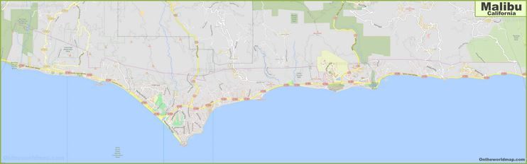 Detailed Map of Malibu
