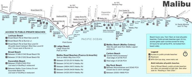Malibu Beaches Map