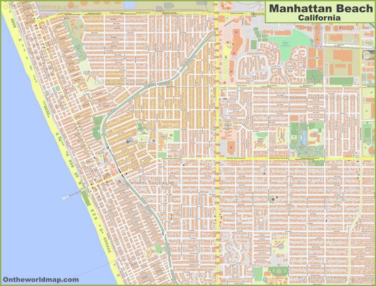 Detailed Map of Manhattan Beach