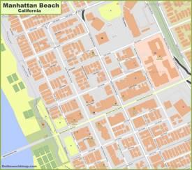 Manhattan Beach City Center Map