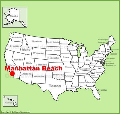 Manhattan Beach Location Map