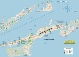 Marathon tourist map