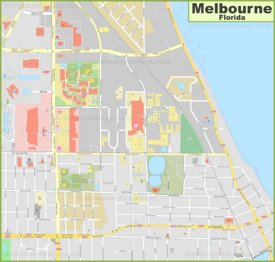 Melbourne city center map